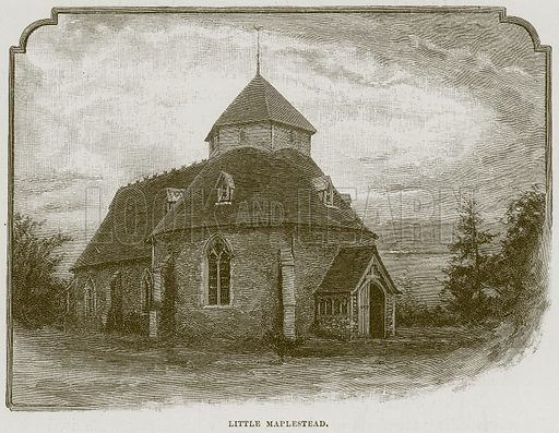 Little Maplestead. Illustration from Cathedrals, Abbeys and Churches by T G Bonney (Cassell, 1891).