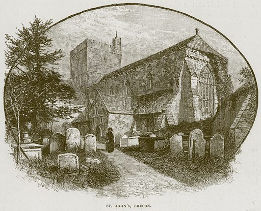 St John's, Brecon. Illustration from Cathedrals, Abbeys and Churches by TG Bonney (Cassell, 1891).