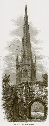 St Mary's: The Tower. Illustration from Cathedrals, Abbeys and Churches by TG Bonney (Cassell, 1891).