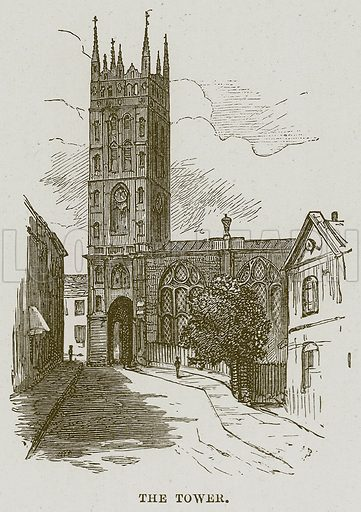 The Tower. Illustration from Cathedrals, Abbeys and Churches by T G Bonney (Cassell, 1891).