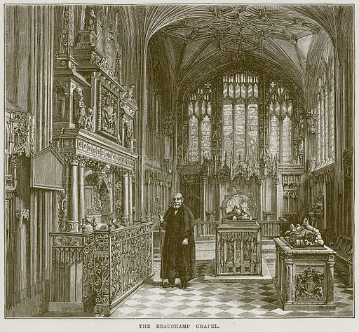 The Beauchamp Chapel. Illustration from Cathedrals, Abbeys and Churches by TG Bonney (Cassell, 1891).