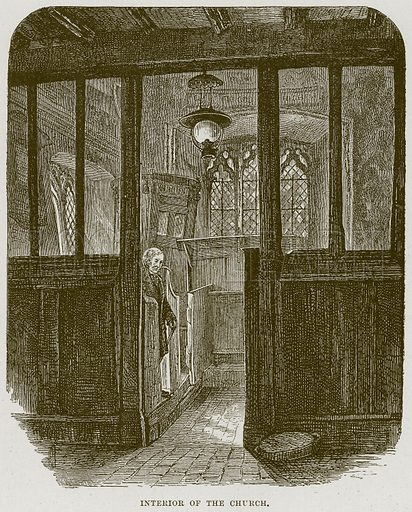Interior of the Church. Illustration from Cathedrals, Abbeys and Churches by T G Bonney (Cassell, 1891).