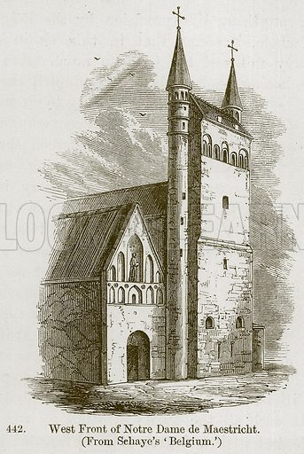 West Front of Notre Dame de Maestricht. Illustration from A History of Architecture by James Fergusson (John Murray, 1874).