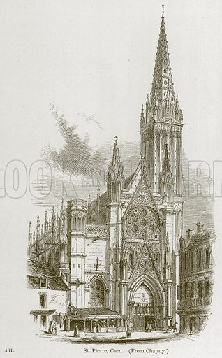 St. Pierre, Caen. Illustration from A History of Architecture by James Fergusson (John Murray, 1874).