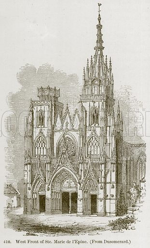 West Front of Ste. Marie de L'Epine. Illustration from A History of Architecture by James Fergusson (John Murray, 1874).