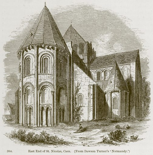 East End of St. Nicolas, Caen. Illustration from A History of Architecture by James Fergusson (John Murray, 1874).