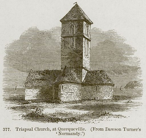 Triapsal Church, at Querqueville. Illustration from A History of Architecture by James Fergusson (John Murray, 1874).