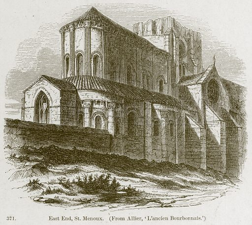 East End, St Menoux. Illustration from A History of Architecture by James Fergusson (John Murray, 1874).