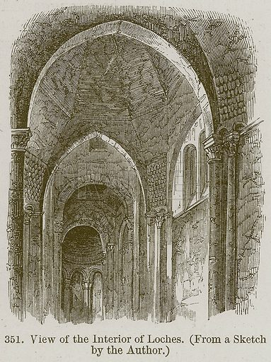View of the Interior of Loches. Illustration from A History of Architecture by James Fergusson (John Murray, 1874).