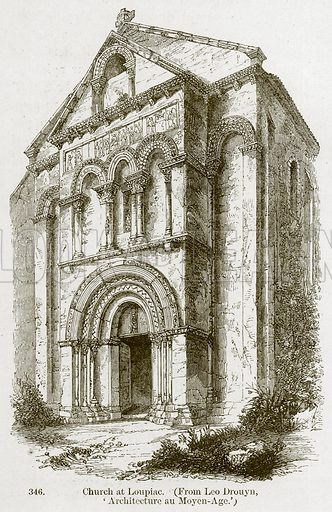 Church at Loupiac. Illustration from A History of Architecture by James Fergusson (John Murray, 1874).