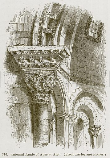 Internal Angle of Apse at Alet. Illustration from A History of Architecture by James Fergusson (John Murray, 1874).