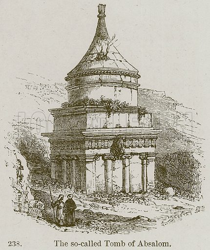 The So-Called Tomb of Absalom. Illustration from A History of Architecture by James Fergusson (John Murray, 1874).