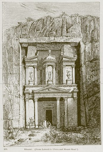Khasne. Illustration from A History of Architecture by James Fergusson (John Murray, 1874).