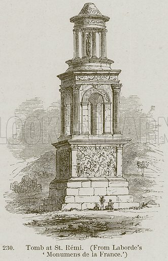 Tomb at St Remi. Illustration from A History of Architecture by James Fergusson (John Murray, 1874).