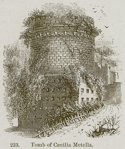 Tomb of Caecilia Metella. Illustration from A History of Architecture by James Fergusson (John Murray, 1874).