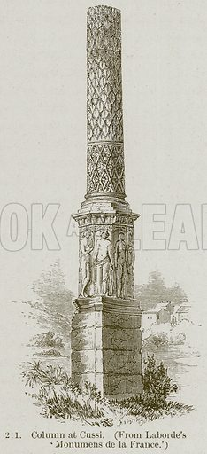 Column at Cussi. Illustration from A History of Architecture by James Fergusson (John Murray, 1874).