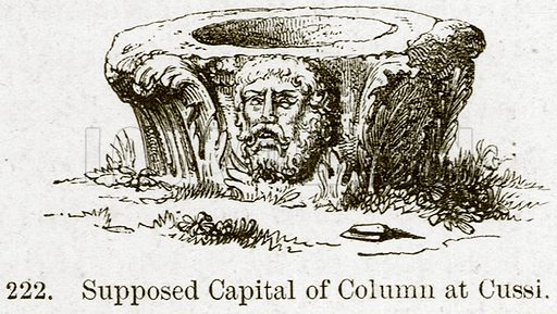 Supposed Capital of Column at Cussi. Illustration from A History of Architecture by James Fergusson (John Murray, 1874).