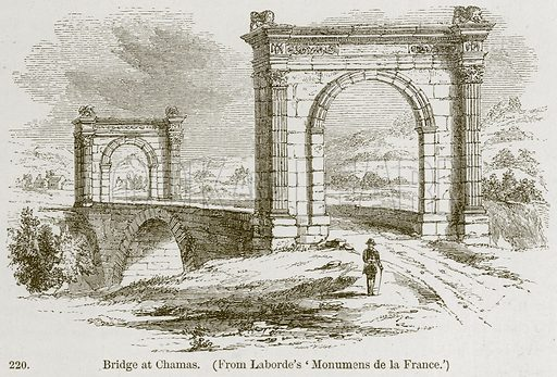 Bridge at Chamas. Illustration from A History of Architecture by James Fergusson (John Murray, 1874).