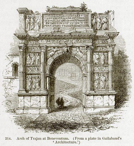 Arch of Trajan at Beneventum. Illustration from A History of Architecture by James Fergusson (John Murray, 1874).