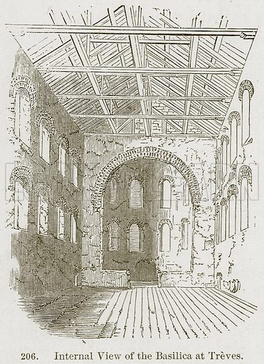 Internal View of the Basilica at Treves. Illustration from A History of Architecture by James Fergusson (John Murray, 1874).