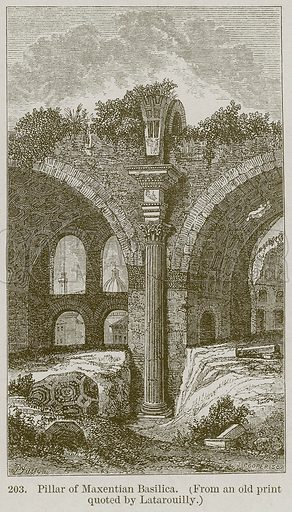 Pillar of Maxentian Basilica. Illustration from A History of Architecture by James Fergusson (John Murray, 1874).