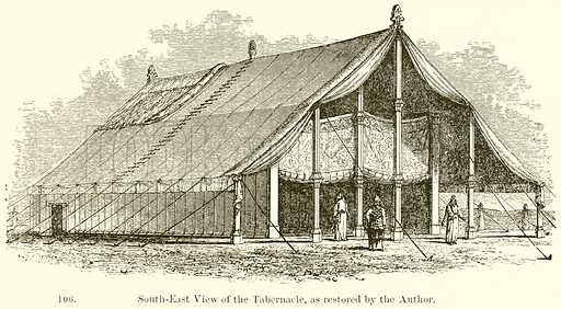 South-East View of the Tabernacle, as restored by the Author. Illustration from A History of Architecture by James Fergusson (John Murray, 1874).