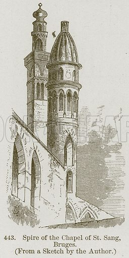 Spire of the Chapel of St. Sang, Bruges. Illustration from A History of Architecture by James Fergusson (John Murray, 1874).