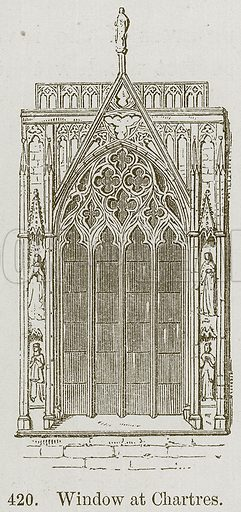 Window at Chartres. Illustration from A History of Architecture by James Fergusson (John Murray, 1874).