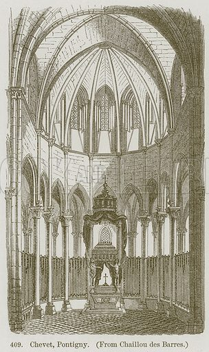 Chevet, Pontigny. Illustration from A History of Architecture by James Fergusson (John Murray, 1874).