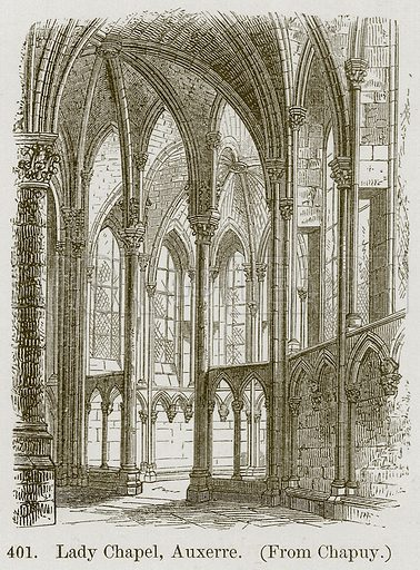 Lady Chapel, Auxerre. Illustration from A History of Architecture by James Fergusson (John Murray, 1874).