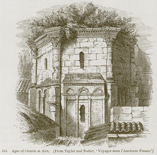 Apse of Church at Alet. Illustration from A History of Architecture by James Fergusson (John Murray, 1874).