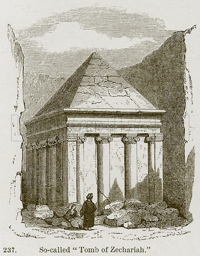 """So-Called """"Tomb of Zechariah."""" Illustration from A History of Architecture by James Fergusson (John Murray, 1874)."""