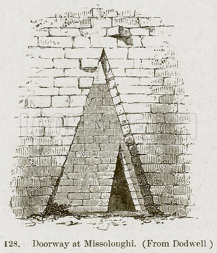 Doorway at Missolonghi. Illustration from A History of Architecture by James Fergusson (John Murray, 1874).