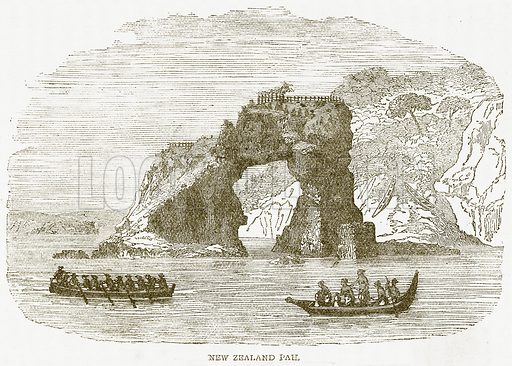 New Zealand Pah. Illustration from Notable Voyagers by William Kingston (George Routledge, 1885).