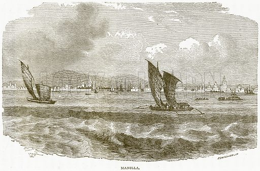 Manilla. Illustration from Notable Voyagers by William Kingston (George Routledge, 1885).