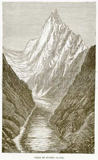 Coast of Staten Island. Illustration from Notable Voyagers by William Kingston (George Routledge, 1885).