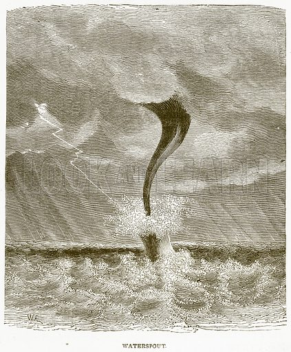 Waterspout. Illustration from Notable Voyagers by William Kingston (George Routledge, 1885).