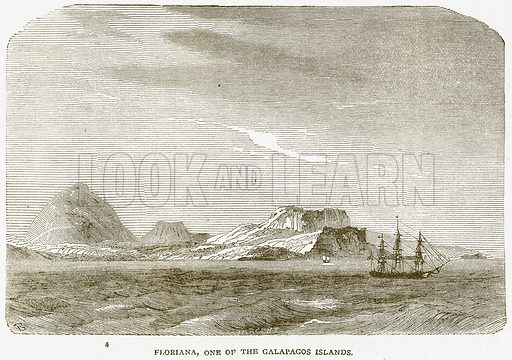 Floriana, One of the Galapagos Islands. Illustration from Notable Voyagers by William Kingston (George Routledge, 1885).