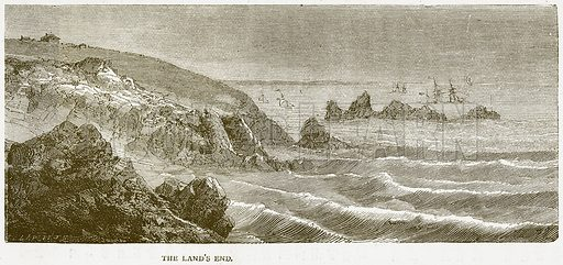 The Land's End. Illustration from Notable Voyagers by William Kingston (George Routledge, 1885).