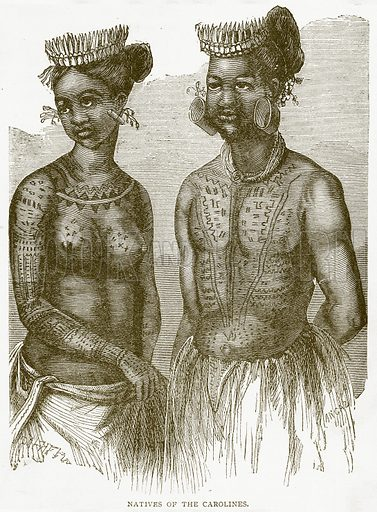 Natives of the Carolines. Illustration from Notable Voyagers by William Kingston (George Routledge, 1885).