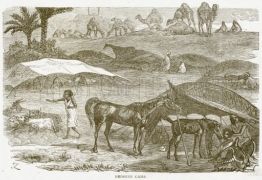 Bedouin Camp. Illustration from Notable Voyagers by William Kingston (George Routledge, 1885).
