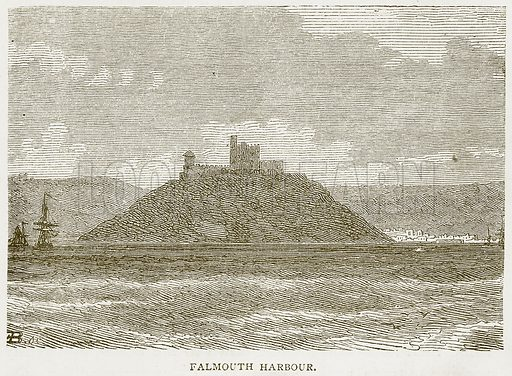 Falmouth Harbour. Illustration from Notable Voyagers by William Kingston (George Routledge, 1885).