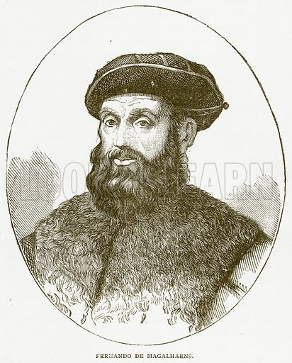 Fernando de Magalhaens. Illustration from Notable Voyagers by William Kingston (George Routledge, 1885).