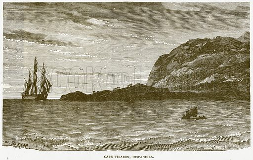 Cape Tibaron, Hispaniola. Illustration from Notable Voyagers by William Kingston (George Routledge, 1885).