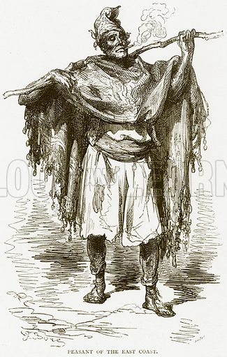 Peasant of the East Coast. Illustration from Spanish Pictures (Religious Tract Society, c 1875).