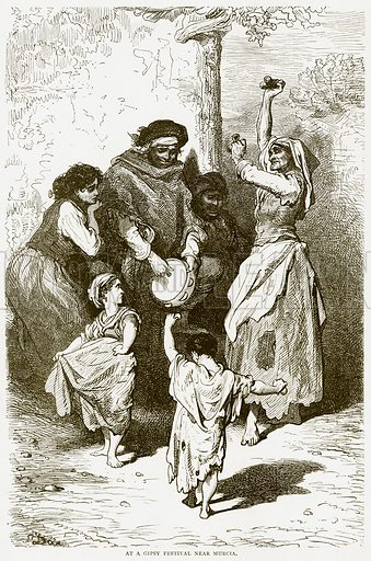 At a Gipsy Festival near Murcia. Illustration from Spanish Pictures (Religious Tract Society, c 1875).