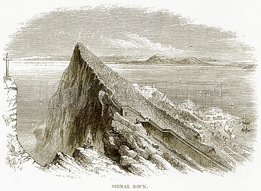 Signal Rock. Illustration from Spanish Pictures (Religious Tract Society, c 1875).