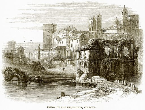 Prison of the Inquisition, Cordova. Illustration from Spanish Pictures (Religious Tract Society, c 1875).