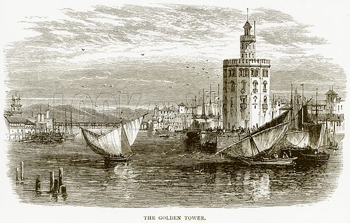 The Golden Tower. Illustration from Spanish Pictures (Religious Tract Society, c 1875).