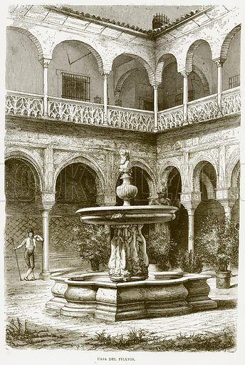 Casa del Pilatos. Illustration from Spanish Pictures (Religious Tract Society, c 1875).
